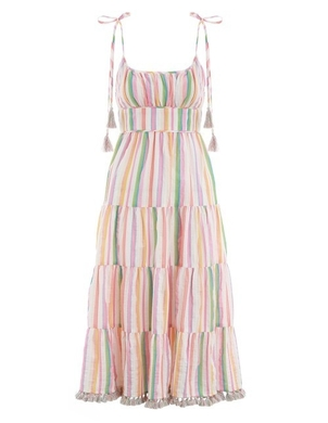 Zimmermann Sleeveless Striped Dress Dresses