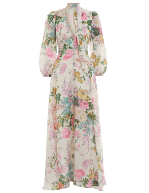 Zimmermann Long Sleeve Floral Dress Dresses