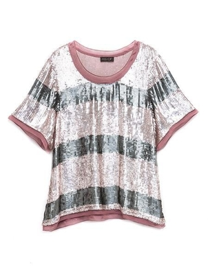 AS by DF THE SEQUIN RUGBY TEE Tops