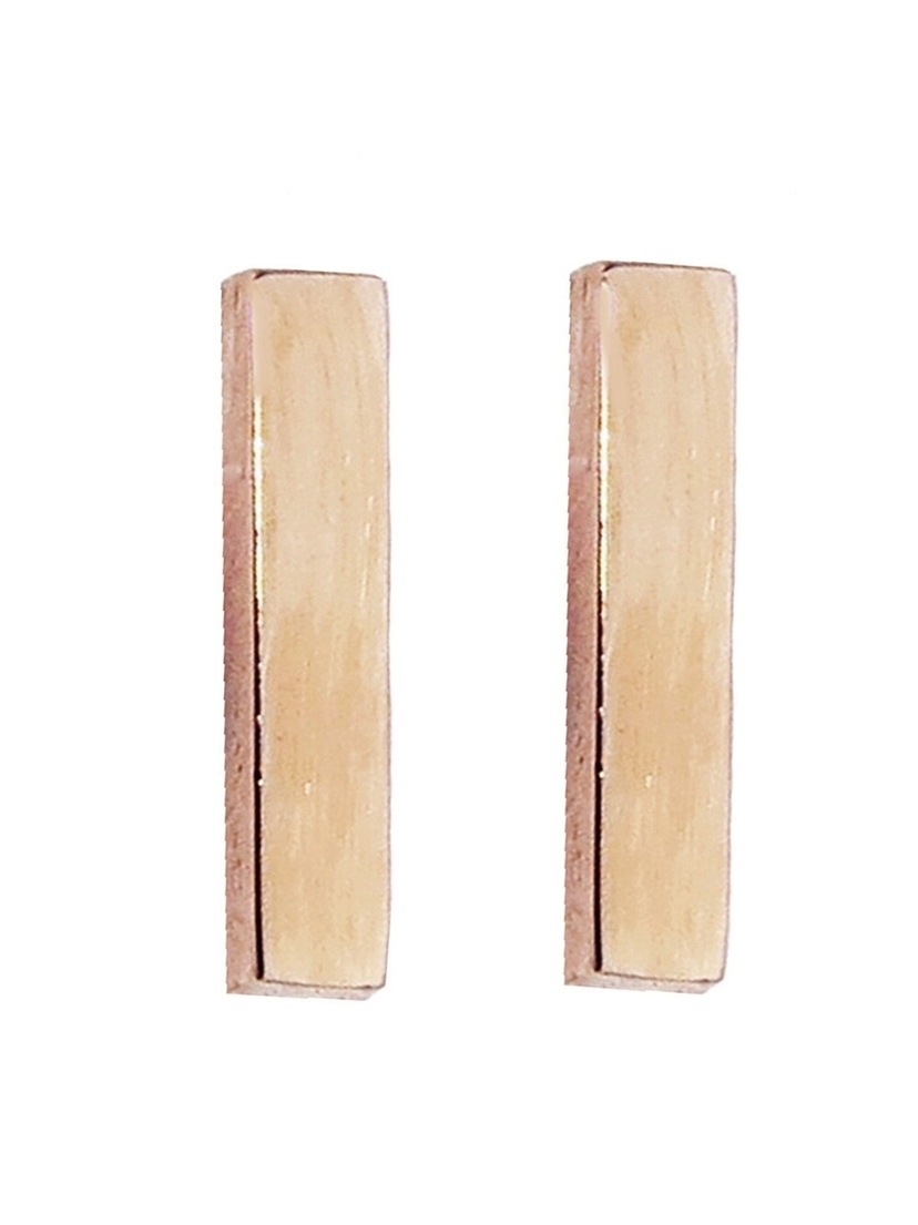 Jennifer Meyer Jennifer Meyer Bar Stud Earrings - Rose Gold Jewelry