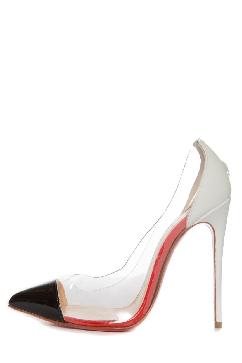 detailed look 79fae 800d5 Christian Louboutin Pointy Toe PVC Pumps Sz 36.5 | House Account