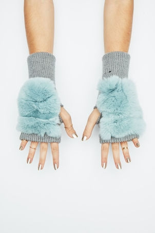 Jocelyn Mercury Mitten - Grey Mist Accessories