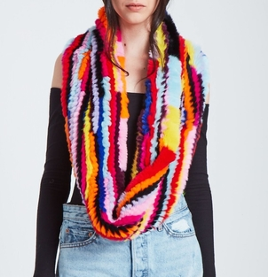 Jocelyn Radioactive Rainbow Scarf - Bright Multi Accessories