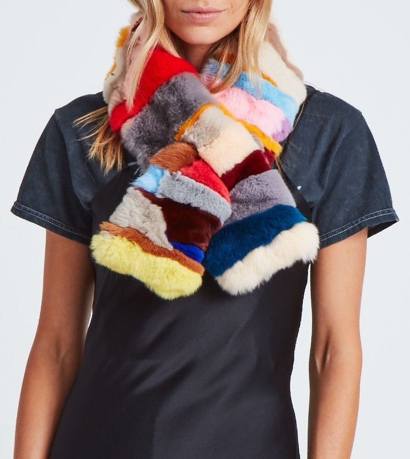 Jocelyn Cosmic Ray Scarf - Bright Multi Accessories