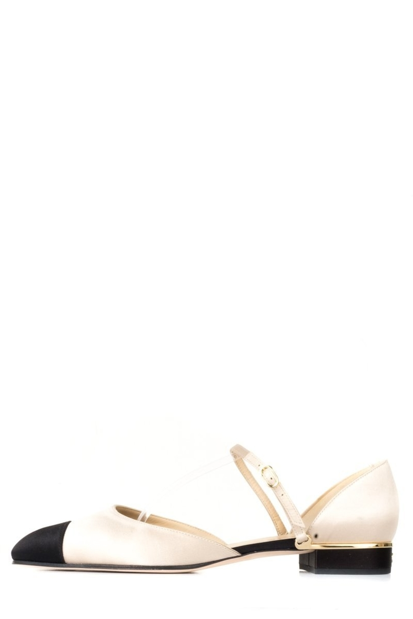 Chanel Chanel Champagne Satin Flats 41.5 Shoes