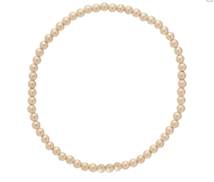 E Newton classic gold 3mm bead bracelet Jewelry