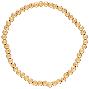 E Newton classic gold 4mm bead bracelet Jewelry