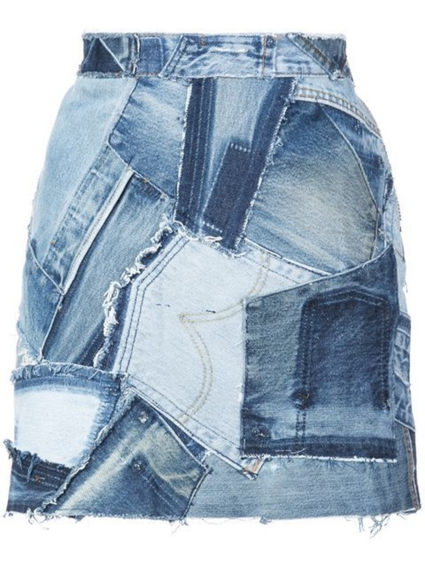 RE/DONE Re/Done - Patchwork Denim Skirt Skirts