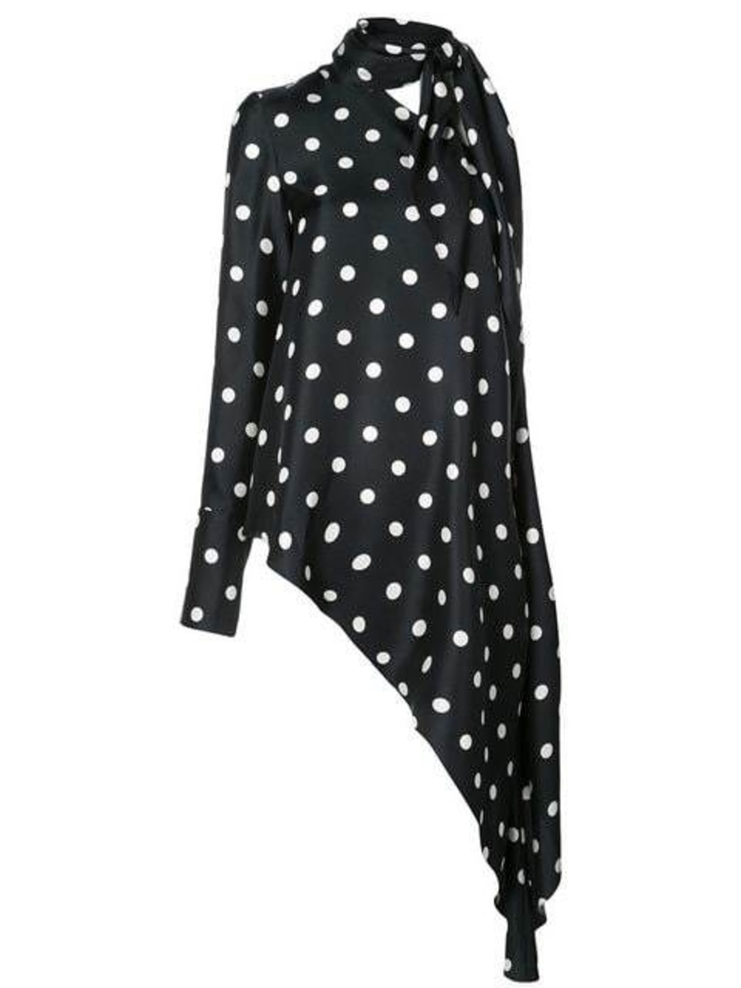 Monse Monse - Asymmetric Polka Dot Top Tops