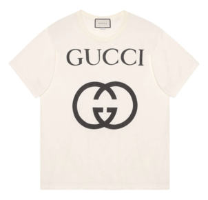 Gucci Short Sleeve Logo Cotton Tee Tops