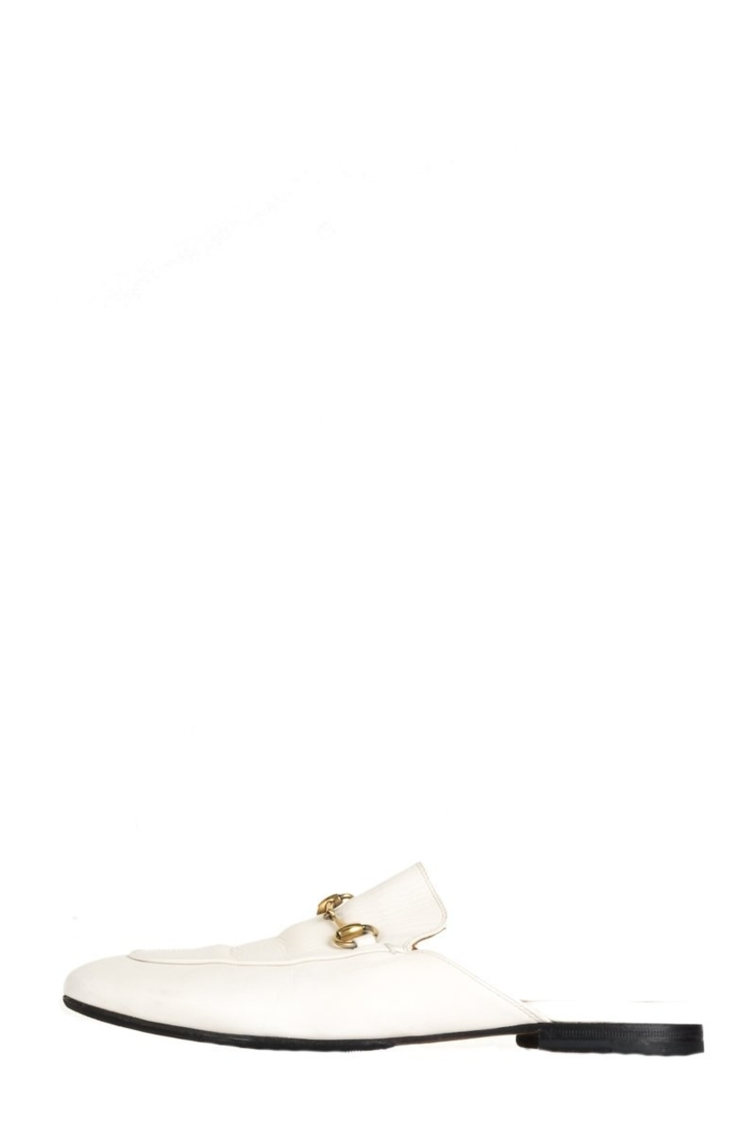 Gucci Gucci White Leather Princetown Mules 39.5 Shoes