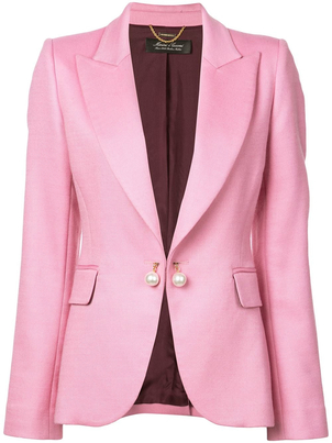 Adam Lippes Double Face Wool Tailored Blazer Outerwear