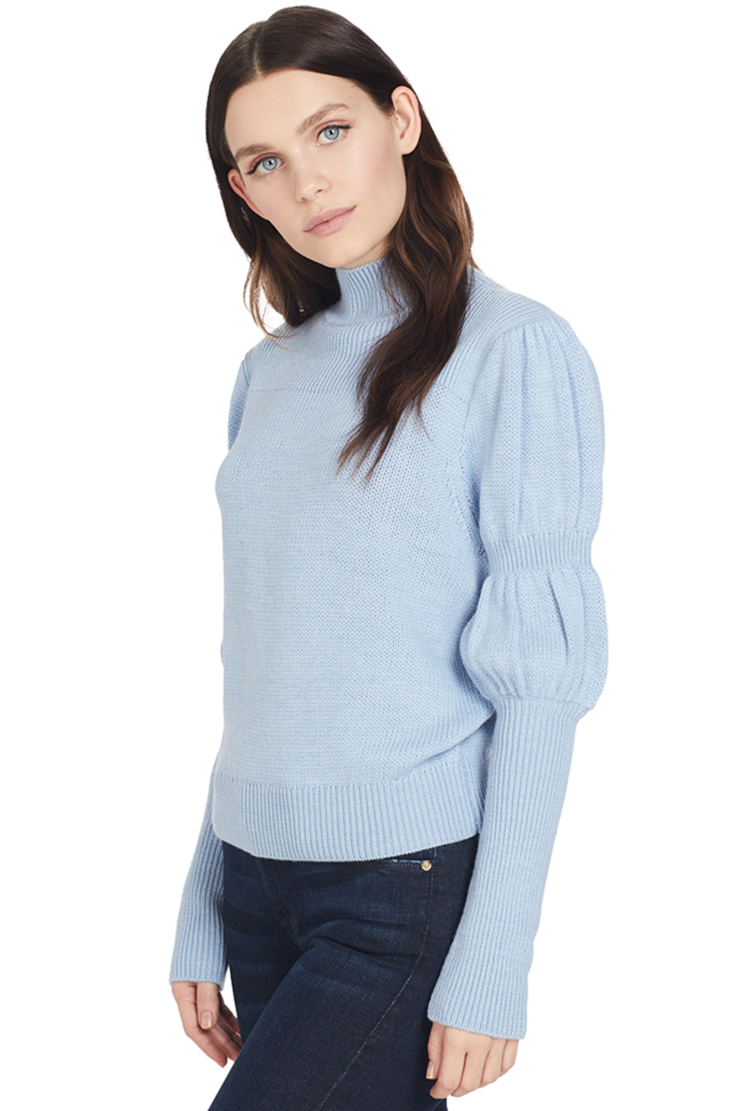 Derek Lam Puff Sleeve Sweater (Blue) Tops