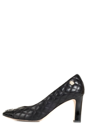 Chanel Chanel Black Quilted Leather Heels 35 Shoes