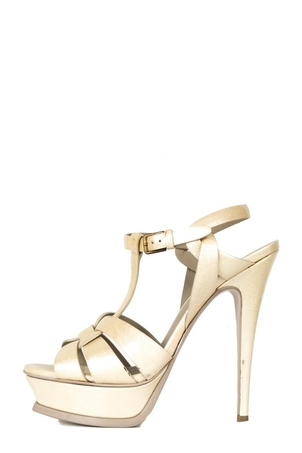 Saint Laurent Yves Saint Laurent Gold Tribute Heels 37 Sale Shoes