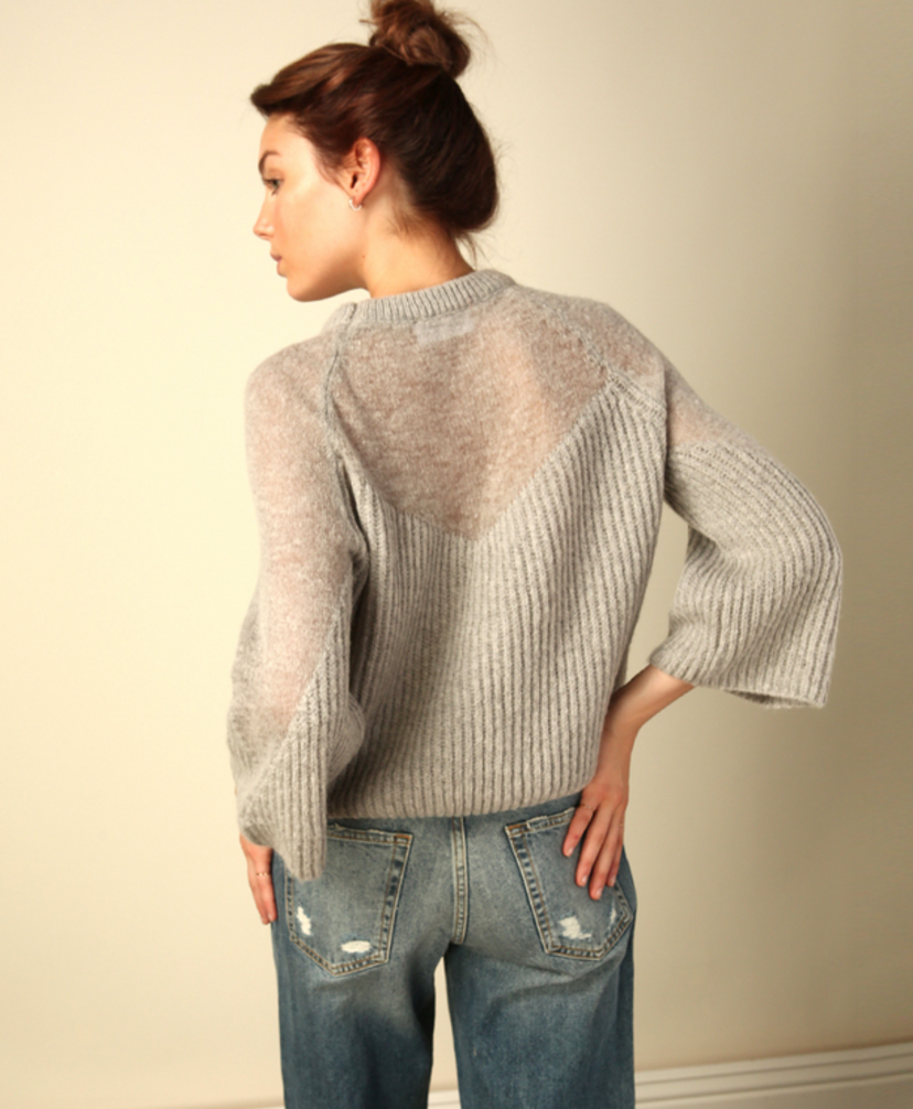Line & Dot Heavenly Sheer Sweater Tops