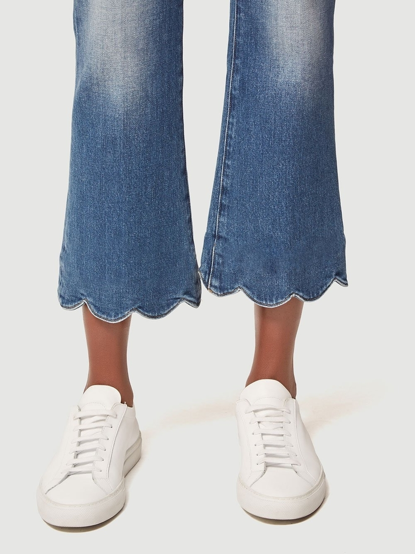 FRAME Le Crop Mini Boot Scallop Hem Pants