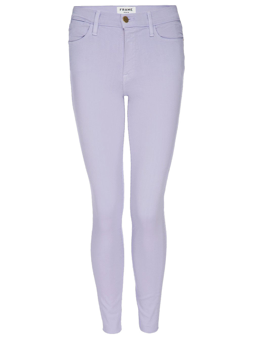 FRAME Le High Skinny Raw Edge in Lavender Pants
