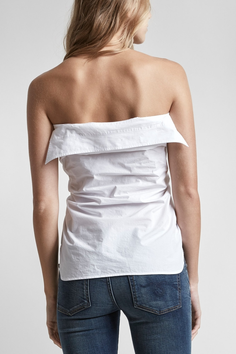 R13 Tied-Up Shirt-White Tops