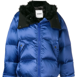 Blue Puffer Coat with Black Lining