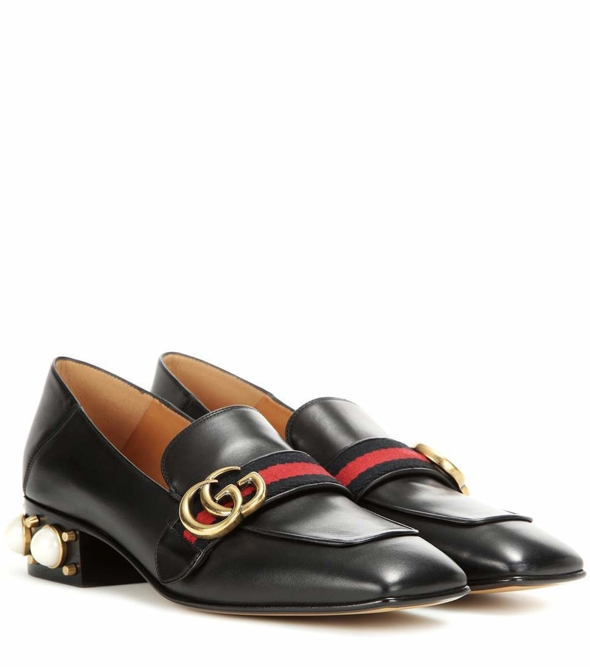 Gucci Gucci GG Mid Heel Loafer Shoes