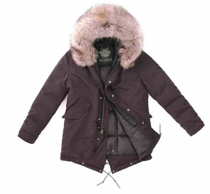 Mr. & Mrs. Italy Burgundy Down Parka Outerwear