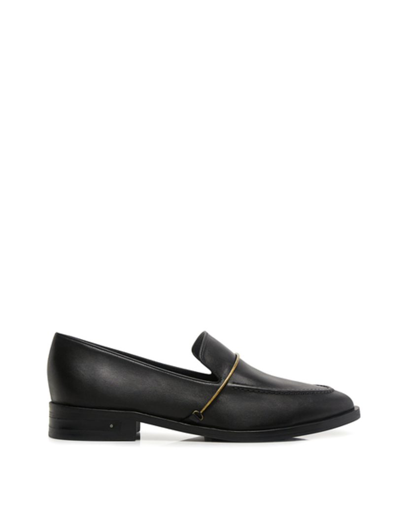 Freda Salvador Cowhide Light Hardward Oxford - Black Shoes