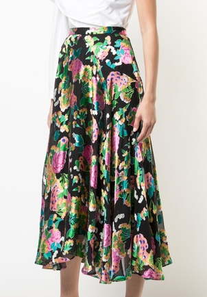 Saloni Ida Floral Burnout Skirt Skirts