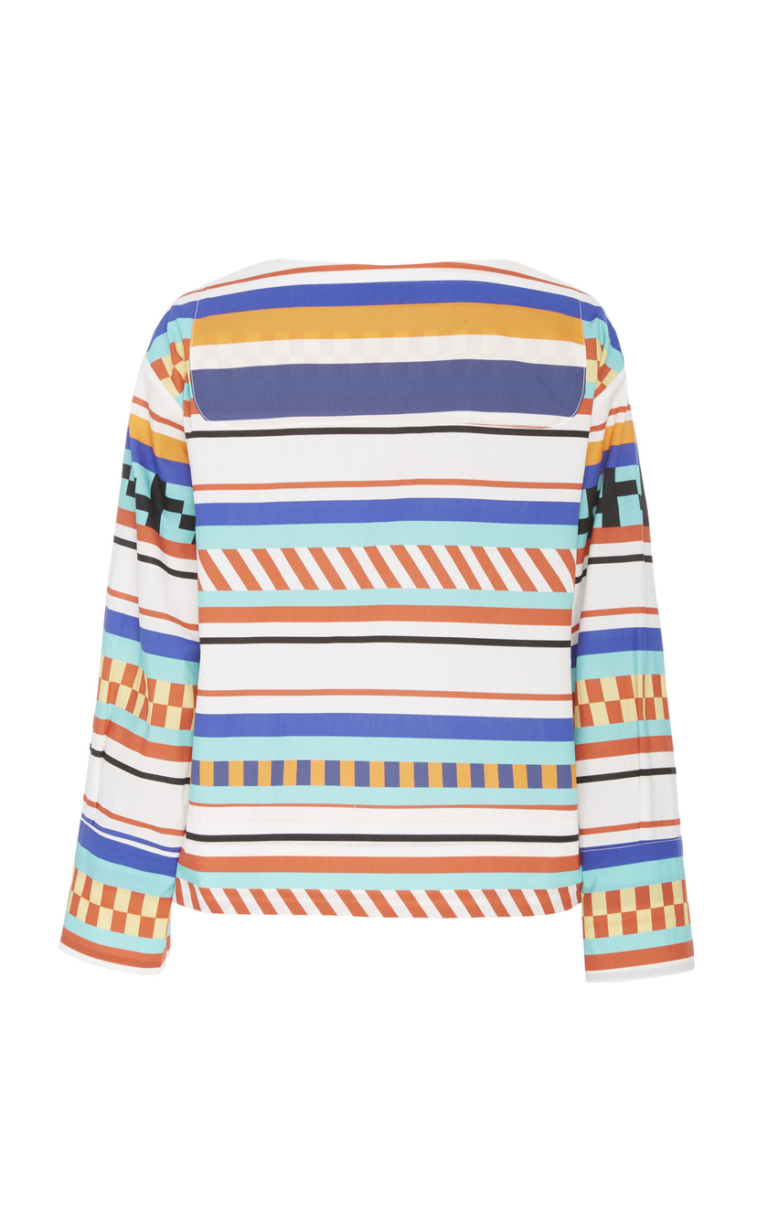 MDS Stripes Colorful Stripe Blouse Tops
