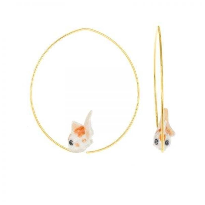 Nach Goldfish Earrings Jewelry
