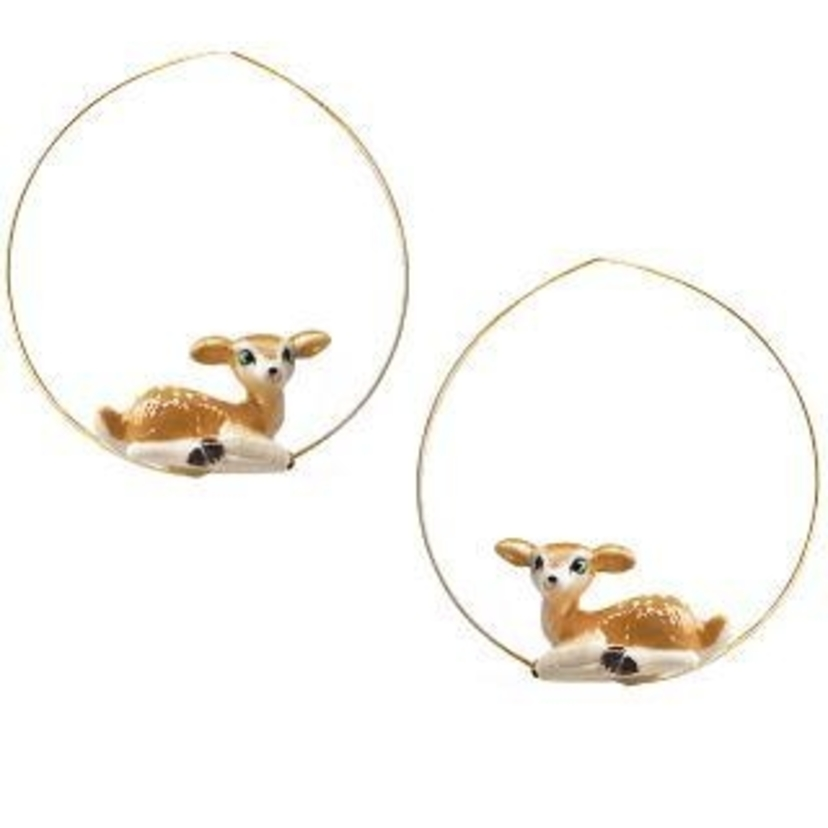 Nach Sitting Doe Earrings Jewelry