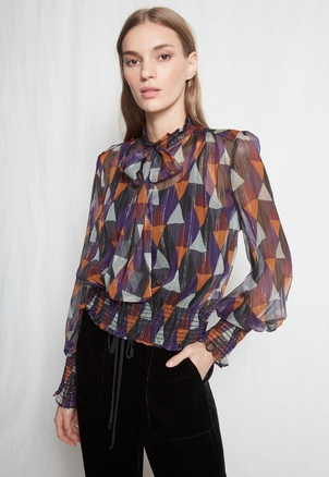 Warm Autumn Blouse (Originally $575) Sale Tops