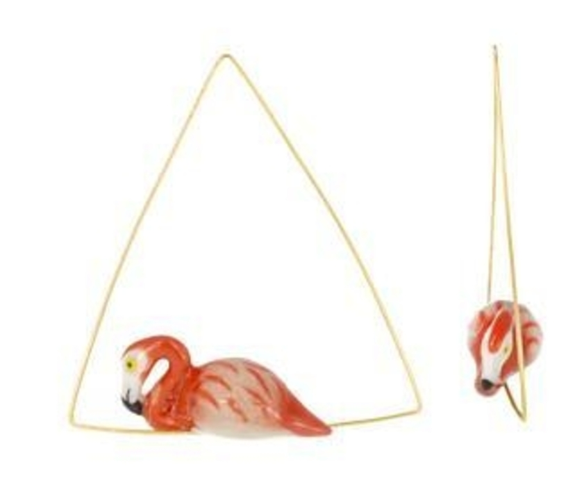 Nach Flamingo Triangle Earrings Jewelry