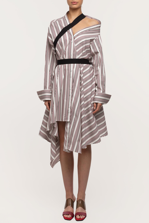Palmer//Harding Heathers Dress - Saitin Berry Stripe Dresses