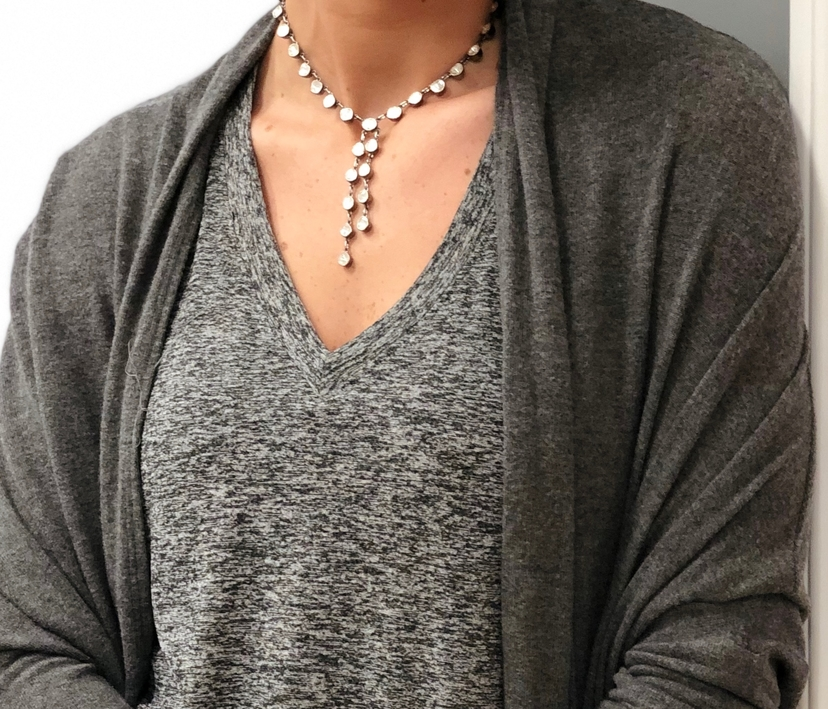 The Woods Fine Jewelry Rough Cut Diamond Lariat Necklace Jewelry