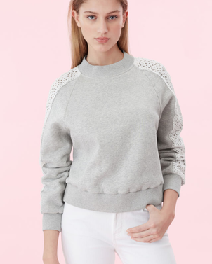 Rebecca Taylor Eyele Panel Sweatshirt Tops