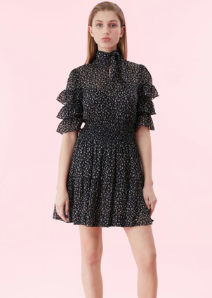 Rebecca Taylor Ruffle Sleeve Dress Dresses