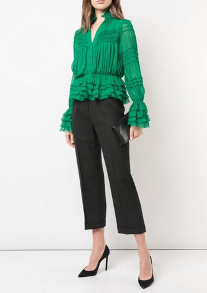 Alexis Eleni ruffled blouse Tops