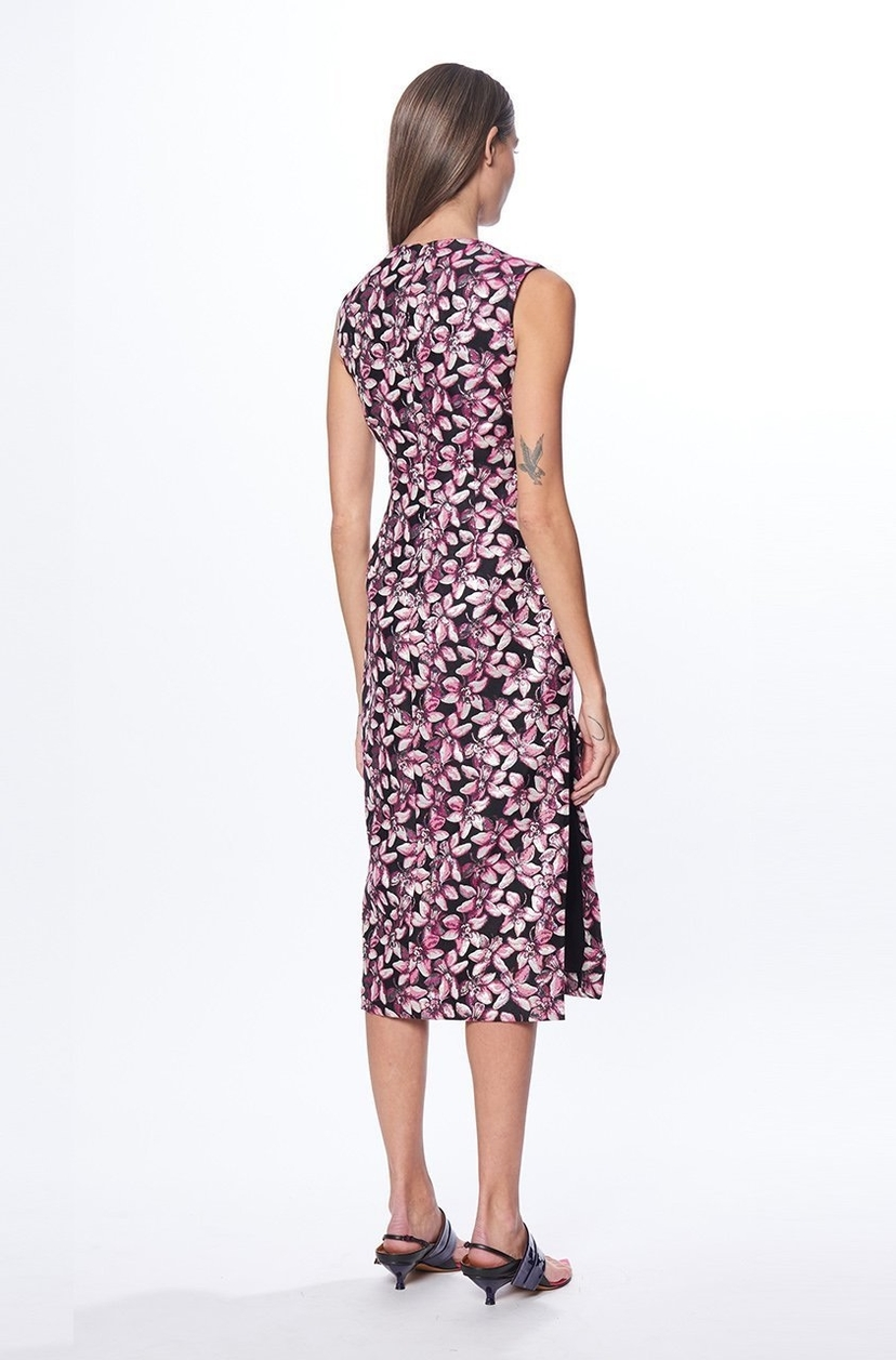 Prabal Gurung Orchid Jacquard Sheath Dress Dresses