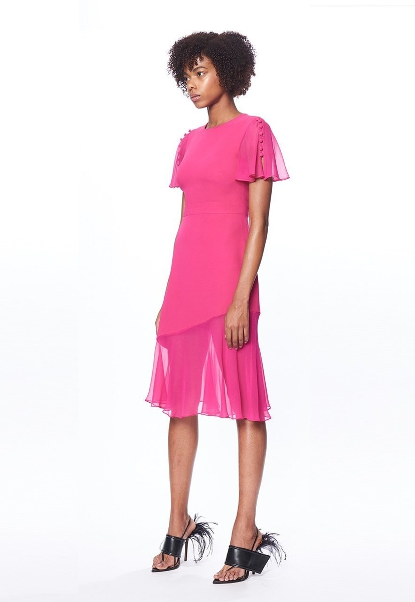 Prabal Gurung Victoria Flutter Sleeve Dress Dresses