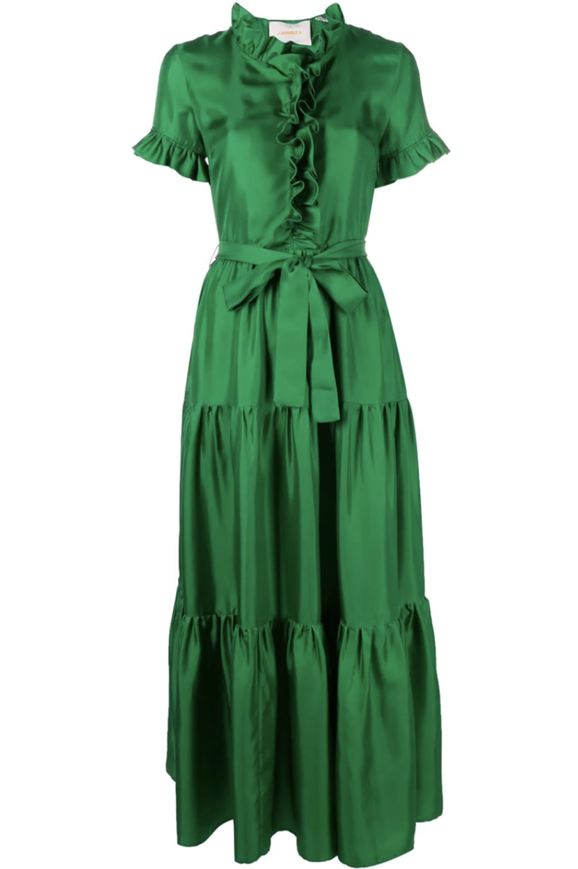La Double J Long and Sassy Dress in Verde Dresses
