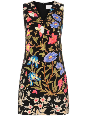 Peter Pilotto Printed Cady V-Neck Dress Dresses