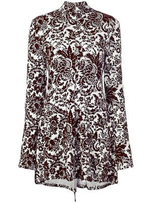 Rosie Assoulin Brocade Mini Dress Dresses
