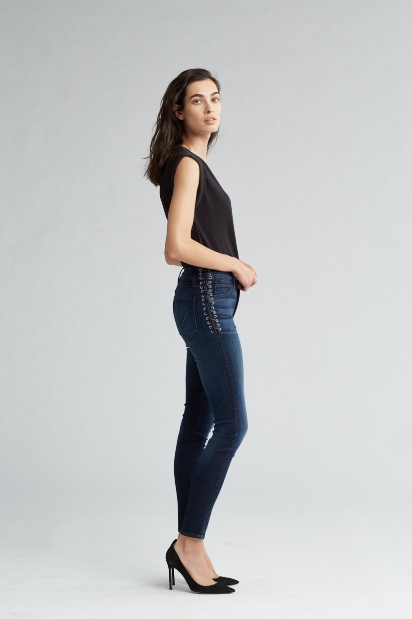 Hudson Barbara High Rise Super Skinny Ankle Jean Pants