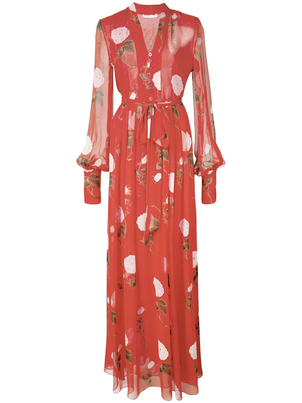 Oscar de la Renta Silk Maxi Dress Dresses