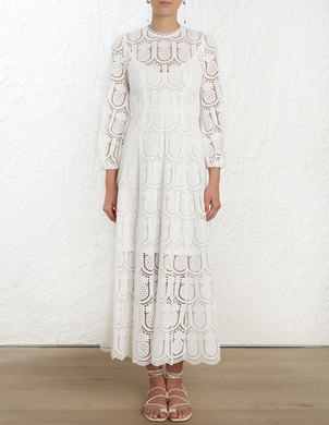 Zimmermann Wayfarer Embroidery Long Dress Dresses