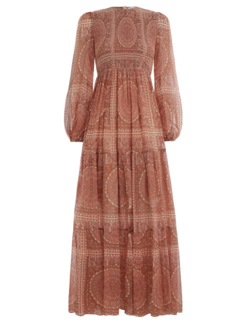 Zimmermann Primrose Paisley Crinkle Dress Dresses