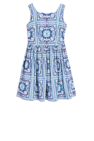 Le Sirenuse Sleeveless Printed Audie Mini Dress Dresses