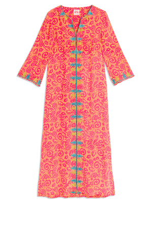 Le Sirenuse Vanessa Long Sleeve Printed Dress Dresses