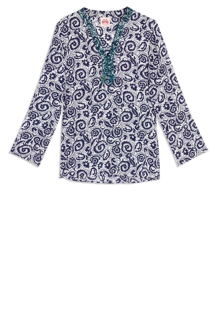 Le Sirenuse Annalise Printed Blouse Tops